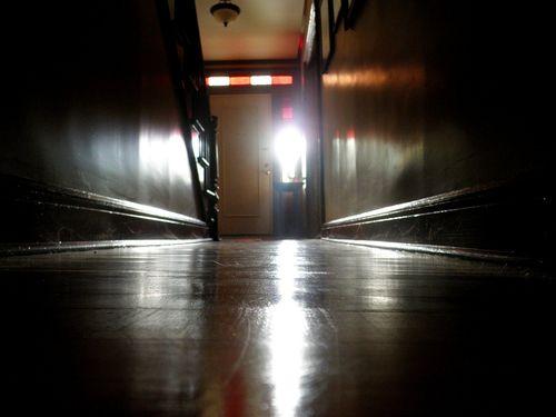 A dark hallway wood antique westmount quebec