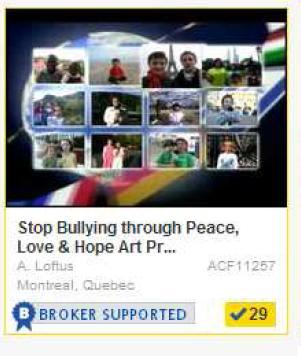 Stop Bullying kids children art support Community Giving